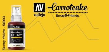 VALLEJO CARROTCAKE PINTURA EN SPRAY PARA SCRAPBOOKING SUNNY YELLOW Nº 003