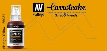 VALLEJO CARROTCAKE PINTURA EN SPRAY PARA SCRAPBOOKING VINTAGE YELLOW Nº 031