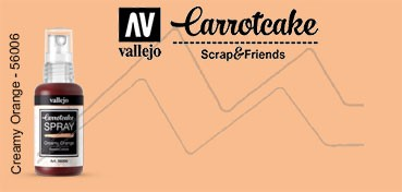 VALLEJO CARROTCAKE PINTURA EN SPRAY PARA SCRAPBOOKING CREAMY ORANGE Nº 006