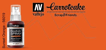 VALLEJO CARROTCAKE PINTURA EN SPRAY PARA SCRAPBOOKING SUNSET ORANGE Nº 019