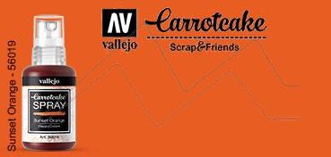 VALLEJO CARROTCAKE PINTURA EN SPRAY PARA SCRAPBOOKING SUNSET ORANGE Nº 019