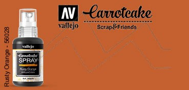 VALLEJO CARROTCAKE PINTURA EN SPRAY PARA SCRAPBOOKING RUSTY ORANGE Nº 029