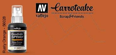 VALLEJO CARROTCAKE PINTURA EN SPRAY PARA SCRAPBOOKING RUSTY ORANGE Nº 029