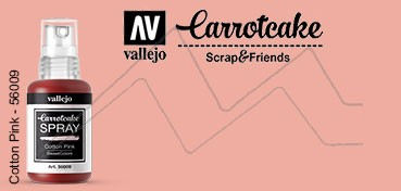 VALLEJO CARROTCAKE PINTURA EN SPRAY PARA SCRAPBOOKING COTTON PINK Nº 009
