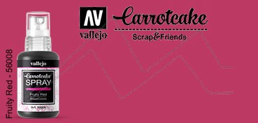 VALLEJO CARROTCAKE PINTURA EN SPRAY PARA SCRAPBOOKING FRUITY RED Nº 008