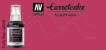 VALLEJO CARROTCAKE PINTURA EN SPRAY PARA SCRAPBOOKING FRUITY RED Nº 008