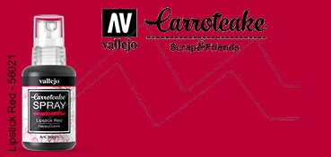 VALLEJO CARROTCAKE PINTURA EN SPRAY PARA SCRAPBOOKING LIPSTICK RED Nº 021