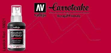 VALLEJO CARROTCAKE PINTURA EN SPRAY PARA SCRAPBOOKING LIPSTICK RED Nº 021