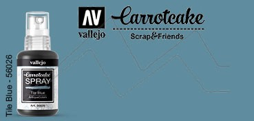 VALLEJO CARROTCAKE PINTURA EN SPRAY PARA SCRAPBOOKING TILE BLUE Nº 026