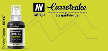 VALLEJO CARROTCAKE PINTURA EN SPRAY PARA SCRAPBOOKING TENDER GREEN Nº 007