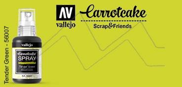 VALLEJO CARROTCAKE PINTURA EN SPRAY PARA SCRAPBOOKING TENDER GREEN Nº 007