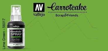 VALLEJO CARROTCAKE PINTURA EN SPRAY PARA SCRAPBOOKING LIME GREEN Nº 017