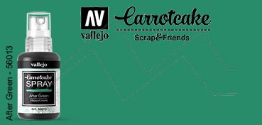 VALLEJO CARROTCAKE PINTURA EN SPRAY PARA SCRAPBOOKING AFTER GREEN Nº 013