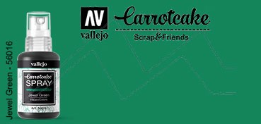 VALLEJO CARROTCAKE PINTURA EN SPRAY PARA SCRAPBOOKING JEWEL GREEN Nº 016