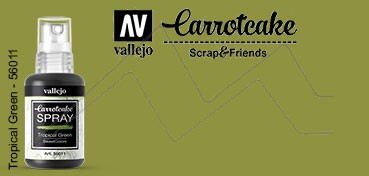 VALLEJO CARROTCAKE PINTURA EN SPRAY PARA SCRAPBOOKING TROPICAL GREEN Nº 011