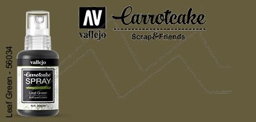 VALLEJO CARROTCAKE PINTURA EN SPRAY PARA SCRAPBOOKING LEAF GREEN Nº 034
