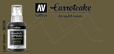 VALLEJO CARROTCAKE PINTURA EN SPRAY PARA SCRAPBOOKING LEAF GREEN Nº 034