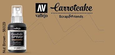 VALLEJO CARROTCAKE PINTURA EN SPRAY PARA SCRAPBOOKING NUT BROWN Nº 030