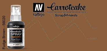 VALLEJO CARROTCAKE PINTURA EN SPRAY PARA SCRAPBOOKING FUDGE BROWN Nº 020