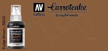 VALLEJO CARROTCAKE PINTURA EN SPRAY PARA SCRAPBOOKING FUDGE BROWN Nº 020