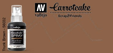 VALLEJO CARROTCAKE PINTURA EN SPRAY PARA SCRAPBOOKING TRUNK BROWN Nº 032