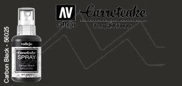 VALLEJO CARROTCAKE PINTURA EN SPRAY PARA SCRAPBOOKING CARBON BLACK Nº 025