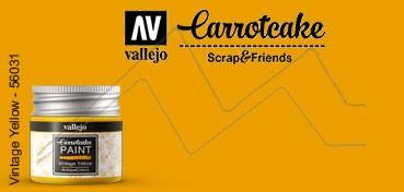 VALLEJO CARROTCAKE PINTURA PARA SCRAPBOOKING VINTAGE YELLOW Nº 431