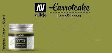 VALLEJO CARROTCAKE PINTURA PARA SCRAPBOOKING TROPICAL GREEN Nº 411
