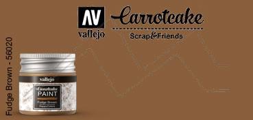 VALLEJO CARROTCAKE PINTURA PARA SCRAPBOOKING FUDGE BROWN Nº 420