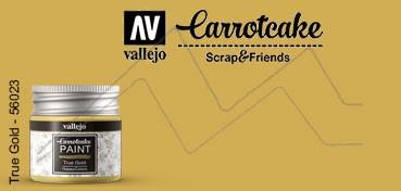 VALLEJO CARROTCAKE PINTURA PARA SCRAPBOOKING TRUE GOLD Nº 423