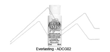 AMERICANA CHALKY FINISH FOR GLASS - PINTURA CHALKY PARA CRISTAL EVERLASTING (BLANCO) ADCG-02