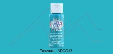 AMERICANA CHALKY FINISH FOR GLASS - PINTURA CHALKY PARA CRISTAL TREASURE (TURQUESA) ADCG-13