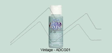 AMERICANA CHALKY FINISH FOR GLASS - PINTURA CHALKY PARA CRISTAL VINTAGE (VERDE) ADCG-01