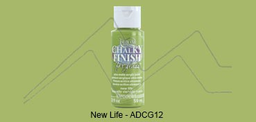 AMERICANA CHALKY FINISH FOR GLASS - PINTURA CHALKY PARA CRISTAL NEW LIFE (VERDE) ADCG-12