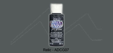 AMERICANA CHALKY FINISH FOR GLASS - PINTURA CHALKY PARA CRISTAL RELIC (NEGRO) ADCG-07