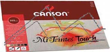 CANSON MI-TEINTES TOUCH BLOC 350 G 12 HOJAS - 6 COLORES SURTIDOS