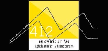 LIQUITEX TINTA ACRÍLICA AMARILLO MEDIO AZO (TRANSPARENTE) (YELLOW MEDIUM AZO) Nº 412