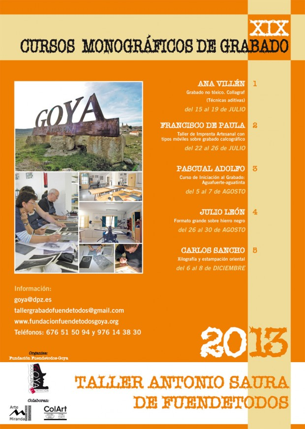 Fundación Goya Fuendetodos. Cursos Verano 2013