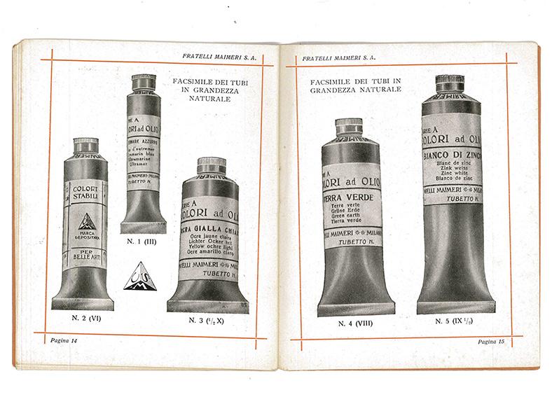 Gama de tubos de óleo Fratelli Maimeri.