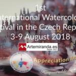 APPRECIATION AWARD PARA ARTEMIRANDA EN EL 1st INTERNATIONAL WATERCOLOR FESTIVAL. IWS REPÚBLICA CHECA, PRAGA 2018.