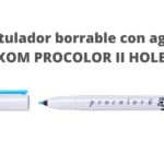 CÓMO UTILIZAR EL ROTULADOR BORRABLE CON AGUA HOLBEIN MAXON PROCOLOR II.