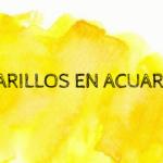 COMPARATIVA DE AMARILLOS EN ACUARELA por VIRGINIA HIGUERO