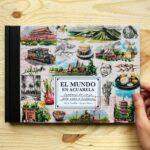 Alicia Aradilla lanza nuevo libro: 'El mundo en acuarela', un viaje a través de sus pinceladas.