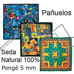 PAÑUELOS 100% SEDA NATURAL PONGÉ BLANCO 5 MM