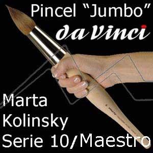 PINCEL DA VINCI MARTA TOBOLSKY KOLINSKY MAESTRO - JUMBO - SERIE 10 REDONDO