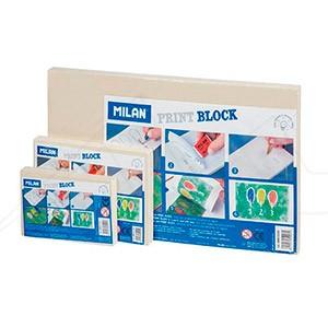 MILÁN PRINT BLOCK - Plancha de caucho sintético para iniciación al grabado.