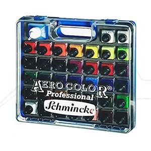 AERO COLOR PROFESSIONAL SCHMINCKE SET 36 COLORES x 28 ML + AERO CLEAN RAPID