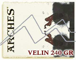 PAPEL VELIN ARCHES MICHEL 240 GR 76X112 CM PARA GRABADO