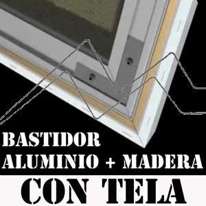 BASTIDORES DE MADERA Y ALUMINIO ENTELADOS NBFRAME- BASTIDORES DE TENSIÓN CONSTANTE