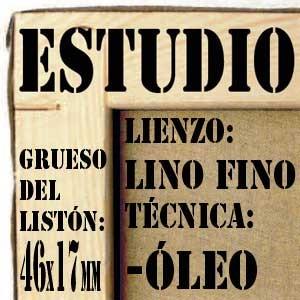 BASTIDOR ESTUDIO (46X17MM) LINO Nº1 FINO ÓLEO (ACABADO ÁLQUÍDICO)